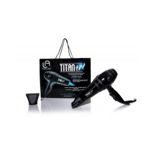 PROFESSIONAL HAIR DRYER UV LIGHT, ION, HIGH TEMP. TITAN, LEANGELIQUE.