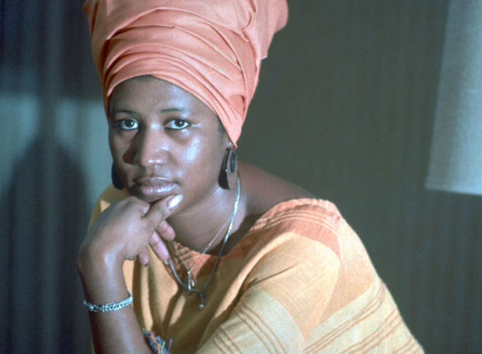 Aretha Franklin 10 Iconic Hairstyles - Turban Style Head Wrap
