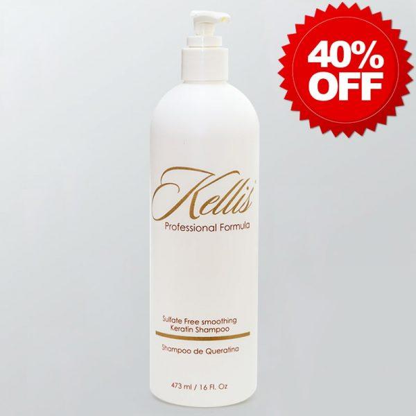Keratin Sulfate-Free Shampoo by Kellis Professional - 40% OFF